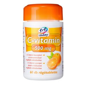 1x1 Vitaday C-vitamin 500 mg rágótabletta - 60db