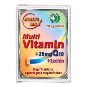 Dr. Chen Multimax vitamin + Q10 + Szelén tabletta - 40db