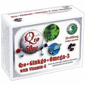 Dr. Chen Q10 + Ginkgo Biloba + Omega-3 kapszula - 30db