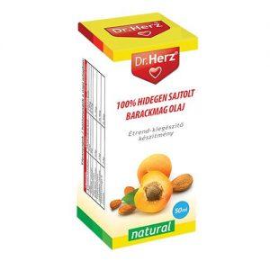 Dr. Herz Hidegen sajtolt Sárgabarackmag olaj - 50ml
