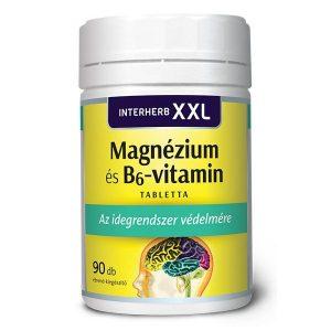Interherb XXL magnézium és B6-vitamin tabletta - 90db