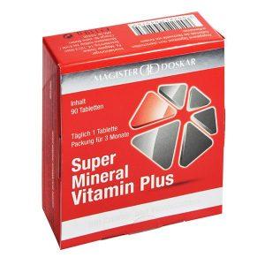 Magister Doskar Super Mineral Vitamin Plus tabletta - 90db