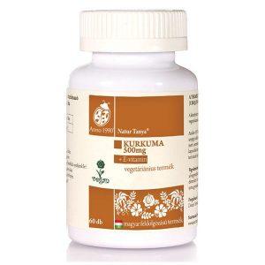 Natur Tanya Szerves Kurkuma + E-vitamin tabletta - 60db