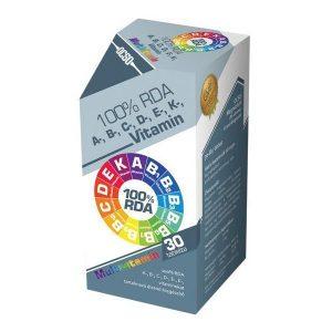 OCSO A-B-C-D-E-K-vitamin multivitamin tabletta - 30db