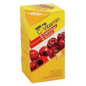 OCSO C-vitamin 500mg csipke+acerola kapszula - 30db