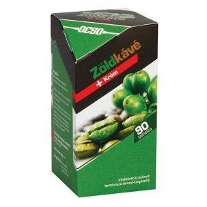 OCSO Zöldkávé + króm tabletta - 90db
