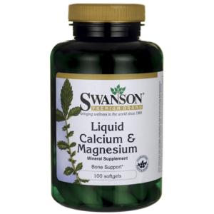 Swanson Kalcium + Magnézium liquid kapszula - 100db