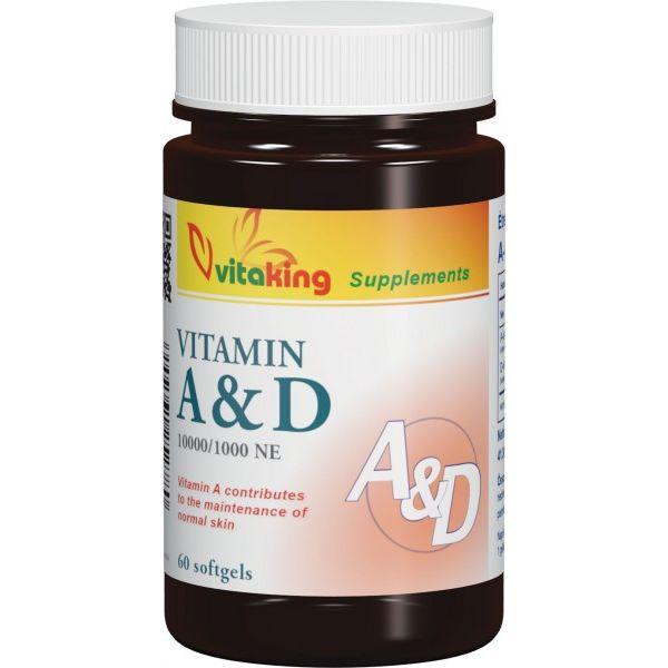 Vitaking A&D vitamin kapszula - 60db