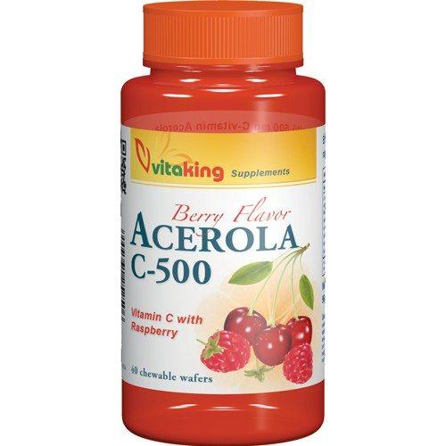 Vitaking Acerola C-500 komplex rágótabletta - 40db