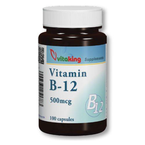 27896b2b22 Vitaking B12 vitamin kapszula - 100db - VitaminNagyker webáruház