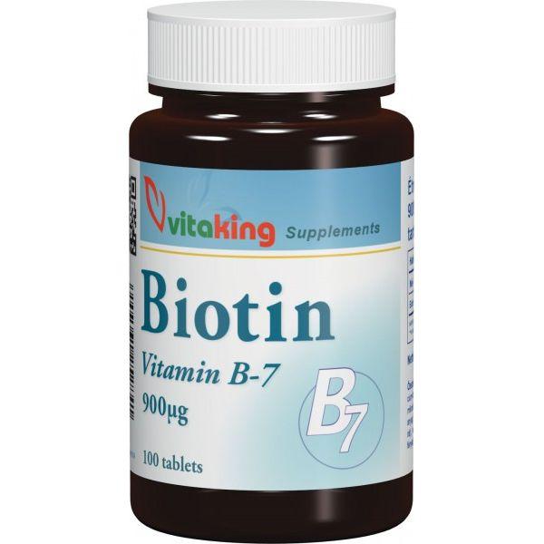 Vitaking Biotin 900mcg tabletta - 100db