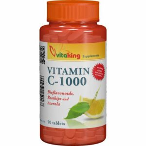 Vitaking C-vitamin 1000mg Bioflavonoid tabletta - 90db