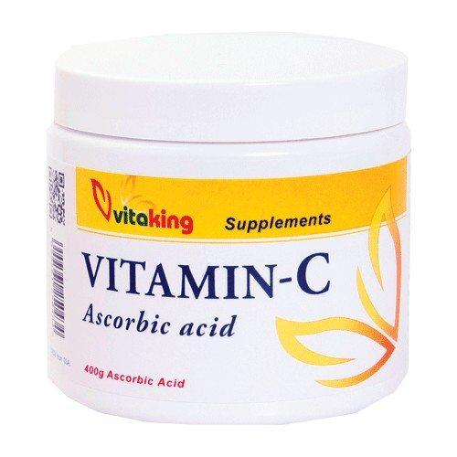 Vitaking C-vitamin + Ascorbin-sav italpor - 400g