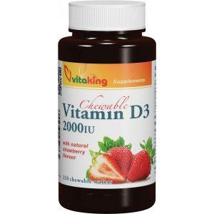 Vitaking D3-vitamin 2000NE rágótabletta - 210db