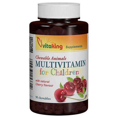 Vitaking Gyerek Multivitamin meggyes rágótabletta – 90db
