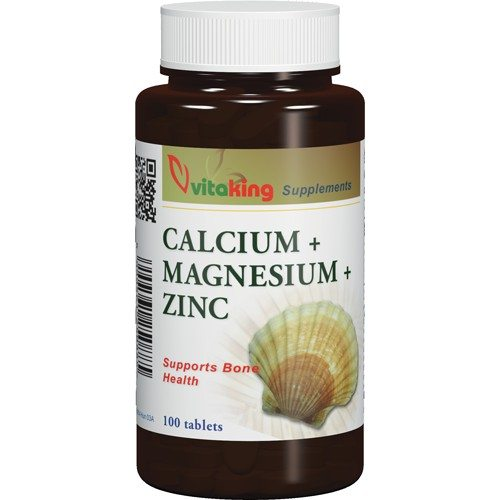 Vitaking Kalcium + Magnézium + Cink tabletta - 100db