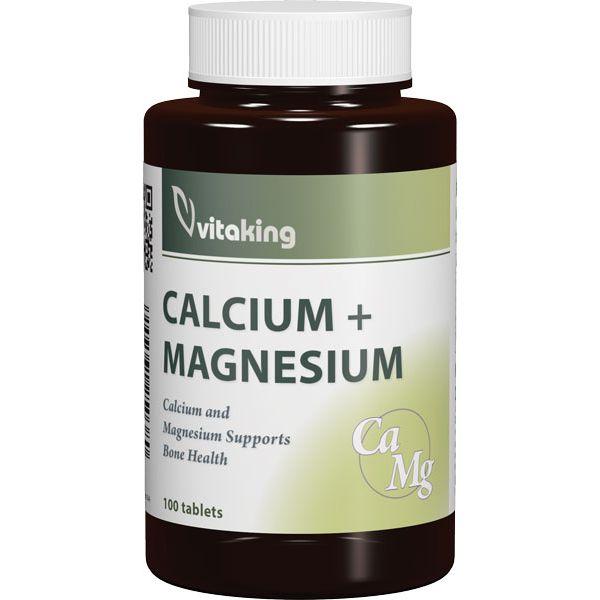 Vitaking Kalcium + Magnézium tabletta - 100db