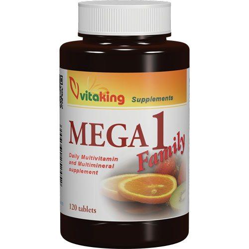 Vitaking Mega-1 Family multivitamin tabletta - 120db