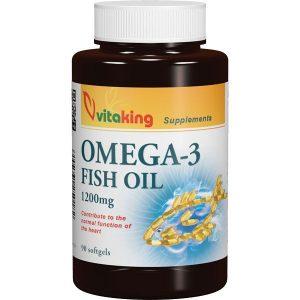 Vitaking Omega-3 1200mg halolaj kapszula - 90db