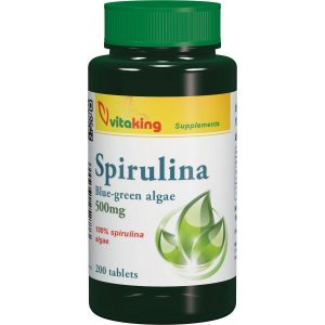 Vitaking 100% Spirulina alga tabletta - 200db