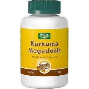 Zöldvér Kurkuma Megadózis kapszula - 110db
