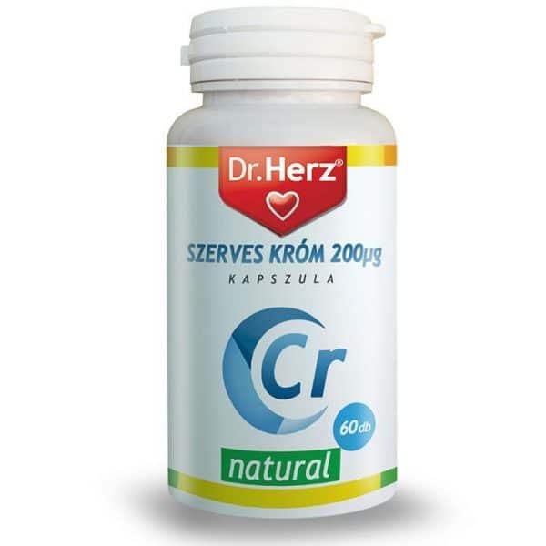Dr. Herz Szerves Króm-pikolinát 200mcg kapszula - 60db