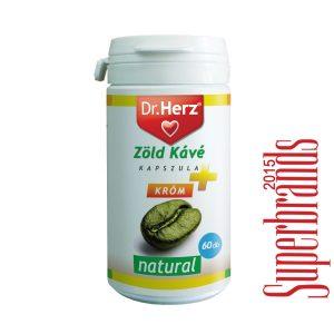Dr. Herz zöld kávé + króm kapszula - 60db