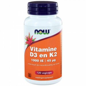 Now D3 és K2 vitamin - 120 db