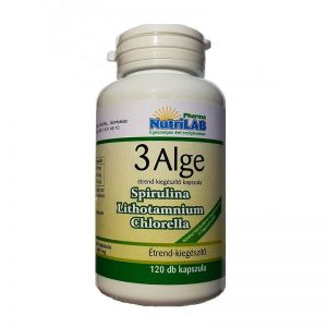 Nutrilab 3 Alge - Spirulina, Chlorella, Vörös alga komplex kapszula - 120db