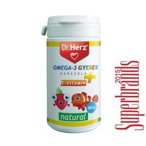 Dr. Herz Omega-3 kapszula gyermekeknek - 60db