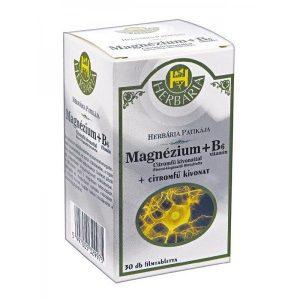 Herbária Magnézium + B6-vitamin tabletta - 30db