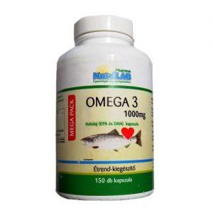 Nutrilab MEGA PACK Omega-3 kapszula - 150db