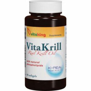 Vitaking VitaKrill rákolaj gélkapszula - 90db