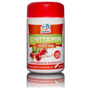 1x1 Vitaday C-vitamin 1000mg csipkebogyós tabletta - 100db