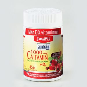 Jutavit C-vitamin 1000mg + D3-vitamin tabletta - 45db
