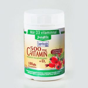 Jutavit C-vitamin 500mg + D3-vitamin tabletta - 100db