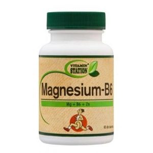 Vitamin Station Magnézium + B6-vitamin tabletta - 60db
