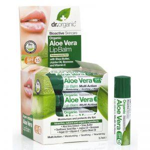 Dr. Organic bio Aloe vera ajakbalzsam - 5.7ml