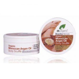 Dr. Organic bio Argán olaj testápoló szuflé - 200ml