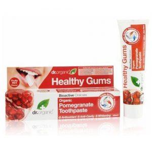 Dr. Organic bio gránátalma fogkrém - 100ml