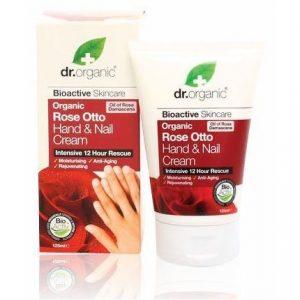 Dr. Organic bio rózsa kéz és körömápoló krém - 125ml