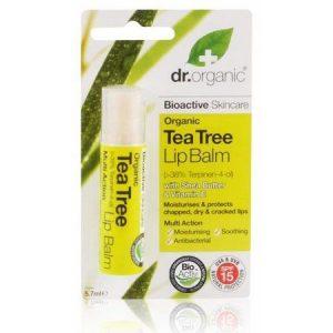 Dr. Organic bio teafa ajakbalzsam - 5.7ml