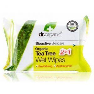 Dr. Organic bio teafa törlőkendő - 20db