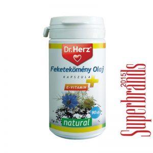 Dr. Herz Feketekömény olaj + E-vitamin kapszula - 90db