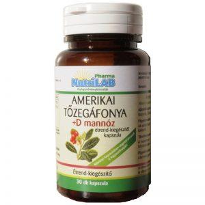 Nutrilab Amerikai tőzegáfonya + D mannóz kapszula - 30db