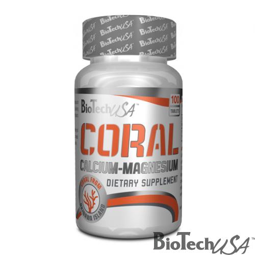 BioTech USA Coral Calcium-Magnesium tabletta - 100db