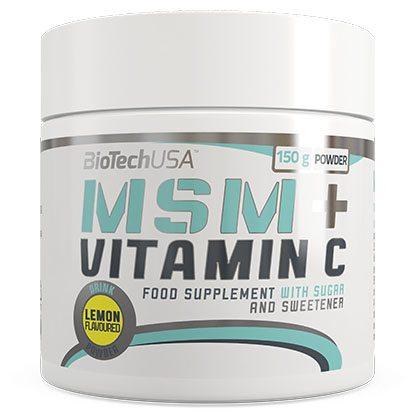 BioTech USA MSM + Vitamin C italpor - 150g
