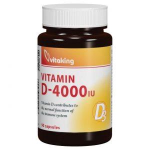 Vitaking D3-vitamin 4000NE kapszula - 90db
