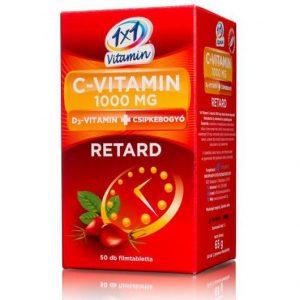 1x1 Vitaday C-vitamin 1000mg + D3 + csipkebogyó tabletta - 50db