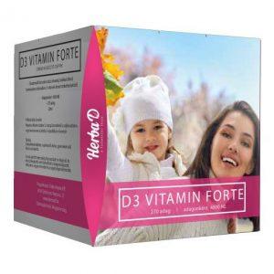 Herba-D D3-vitamin Forte 4000NE csepp (270 napi adag) – 20ml
